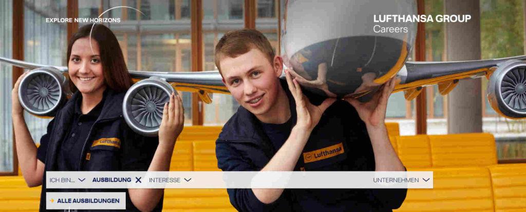 Ausbildungsmarketing Lufthansa