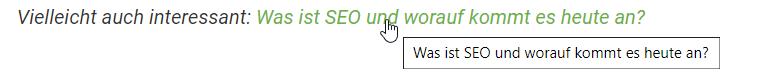 Interne Verlinkung von Rankingdocs auf SEO