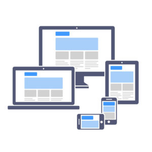 Responsive Webdesign auf verschiedenen mobilen Geräten.
