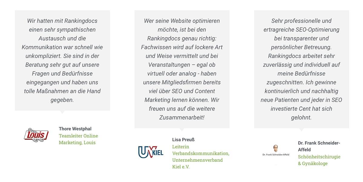 testimonials firmenwebsite